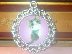 Aranyos kis Cica - Macska Tibeti ezüst Medál 2.