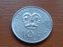 FRANCIA POLINÉZIA POLYNESIE 10 FRANK FRANCS 1993 I.E.O.M. #
