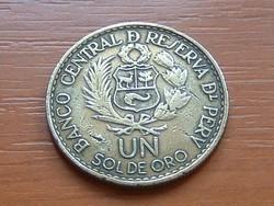 PERU 1 UN SOL DE ORO 1965 (Lima Mint 400. évfordulója) #