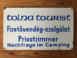 Tolna tourist - zománctábla (zománc tábla)