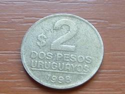 URUGUAY 2 PESOS 1998 ARTIGAS SO (SANTIAGO) #