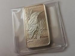 Heraus(svájc) ezüst lap-31,1 gramm 0,999 Jégmadár,gyönyörű darab