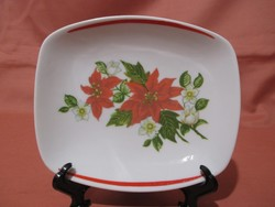 Mikulás virágos Hollóházi tálka, kis tányér