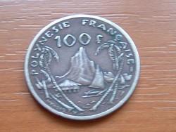 FRANCIA POLINÉZIA POLYNESIE 100 FRANK FRANCS 1982 I.E.O.M. 81-63% Copper, 9-27% Tin, 10% Nickel#