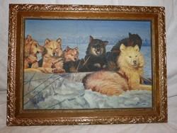 Bíró Ödön festmény , kutya