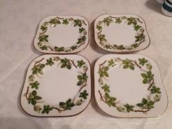 4 db svéd porcelán, 15x15-ös desszertes tányér. Gyönyörűek!!