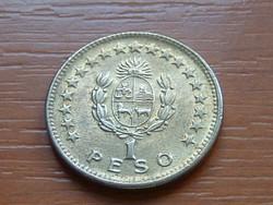 URUGUAY 1 PESO 1965 ARTIGAS Alumínium-bronz, 5 g., 22 mm #