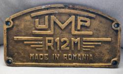 UMP R12M úthenger alumínium öntvény tábla