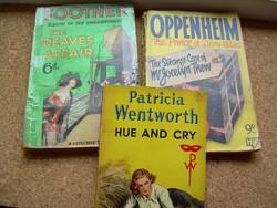 3 angol klasszikus krimi/kalandregény Wentworth, Footner, Oppenheim