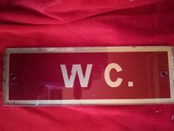 Régi festett üvegtábla W C.
