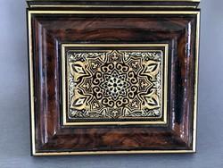 Toledói ékszerdoboz 24 karátos arannyal készült damaszkuszi  betéttel