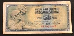 50 dinár 1978 Jugoszlávia