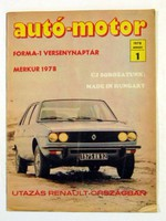 1972 július 6  /  autó-motor  /  SZÜLETÉSNAPRA RÉGI EREDETI ÚJSÁG Szs.:  6564