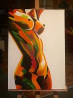 Akril absztrakt festmény
