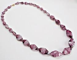 Lila muránói üveg nyaklánc