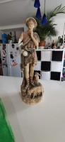 Royal Dux Bohemia porcelán figura(sérült).