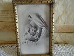 Szűz Mária Kis Jézussal keretezett kép