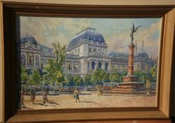 Tikáts Adolf (1872 - ) - Nagyvárosi részlet