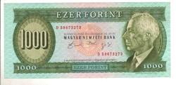 """1000 forint 1992 """"D"""" Gyönyörű."""