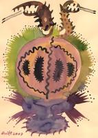 Szeift Béla - Antik váza 30 x 21 cm akvarell, papír