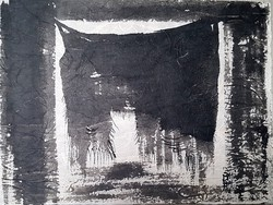 Borsos Miklós - 28 x 37 cm tus, rizspapír 1969