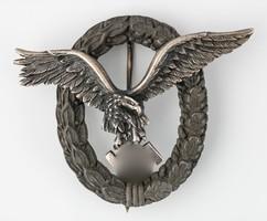 Német Második Világháborús Légierő  Pilóta Jelvénye - Flugzeugführerabziehen !EREDETI!