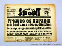RITKASÁG! 1936 augusztus 14  /  NEMZETI SPORT  /  Eredeti! Újság ritkaság! Szs.:  14074