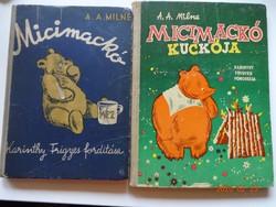 A.A. Milne: Micimackó + Micimackó kuckója - Karinthy Frigyes fordítása - régi kiadás, 1957