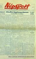 1959 szeptember 21  /  Népsport  /  SZÜLETÉSNAPRA RÉGI EREDETI ÚJSÁG Szs.:  4759