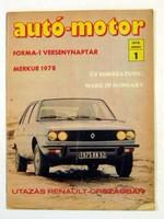 1975 augusztus 6  /  autó-motor  /  SZÜLETÉSNAPRA RÉGI EREDETI ÚJSÁG Szs.:  6577