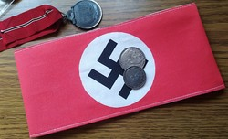 """NSDAP nemzetiszocialista """"Náci"""" párt karszalag másolat"""