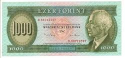 """1000 forint 1993 """"D"""" 2."""