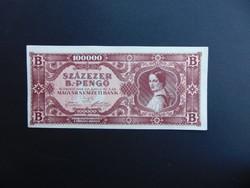 100000 B.- pengő 1946 Szép ropogós bankjegy   02
