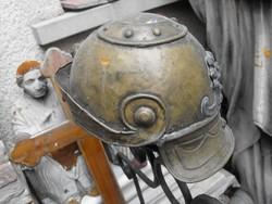 Középkori római Réz sisak lovagi páncél sisak ritkaság Loft industrial vintage
