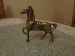 Szépséges réz ló szobrocska