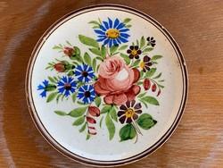 Antik Bélapátfalva Pruzsinszky 1910. kis falitányér, tányér 16,5 cm.