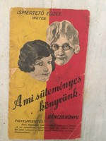 Antik Váncza A mi süteményes könyvünk - füzet