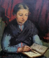 "Kovacsev Friderika  (1891-1975  ) "" Fiatal lány..!!"