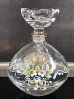 Bohemia parfümös üveg porcelán festéssel