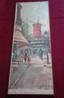Lucien Delarue  Moulin Rouge festményének nyomata