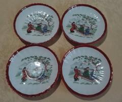 4 db igényes festésű japán tányér