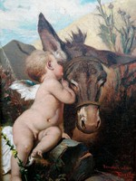 "Kiss Alajos, Kiss Alois  (1857-  ) "" Benczúr után, 1917...!!"