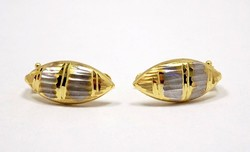 Sárga -fehér arany fülbevaló (ZAL-Au84524)