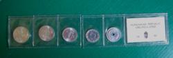 1990-  fillér sor - banki fóliázott