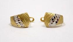 Sárga-fehér arany fülbevaló (ZAL-Au77508)