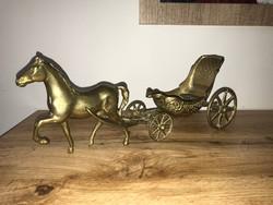 Csodaszép tömör rész lovaskocsi hintó lovas kocsi szobor