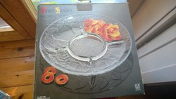 Új Dekoratív gyümölcstál-kínálótál-asztalközép+doboza átm.306 mm