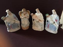 Négy darab egyházi porcelán figura