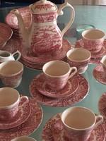 Eredeti Angol porcelán jelenetes motívumokkal