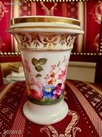 Antik angol Spode 19. századi kisméretű váza, pohár